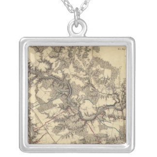 North Anna, Virginia Silver Plated Necklace