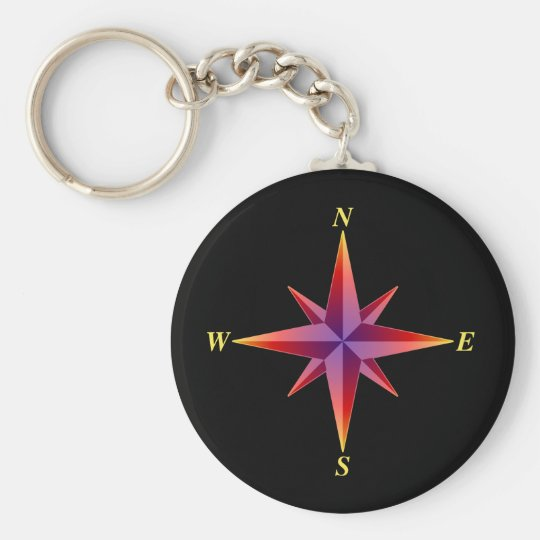 North Arrow Keychain