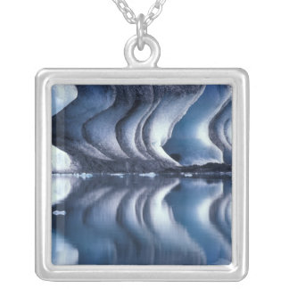 North Atlantic, Iceland, Breioamerkurjokull 2 Silver Plated Necklace