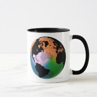 North Atlantic Ocean Current Map Mug