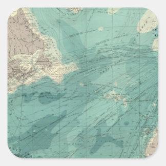 North Atlantic Ocean Square Sticker