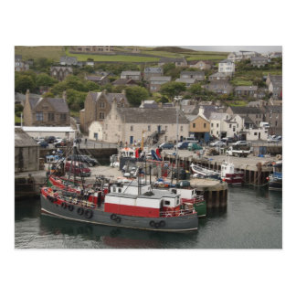 North Atlantic waterfront port of Stromness Postcard