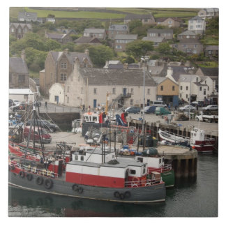 North Atlantic waterfront port of Stromness Tile