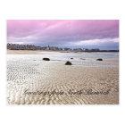 North Berwick beach in Scotland, postcard