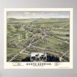 North Berwick, ME Panoramic Map - 1877 Poster