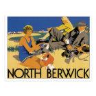 North Berwick Vintage Travel Poster Postcard