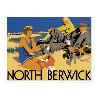 North Berwick Vintage Travel Poster Postcard