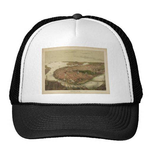 North Boston Massachusetts 1877 by John Bachmann Mesh Hat
