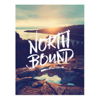 North Bound Quote Brush Typography Photo Template Postcard
