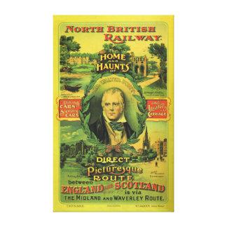 North British Railway England to Scotland Canvas Print