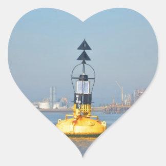 North Cardinal Buoy Heart Sticker