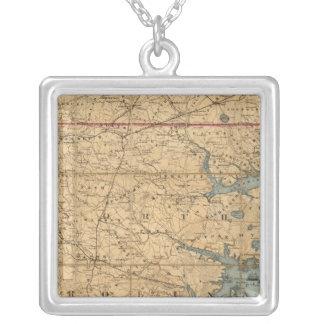 North Carolina 2 Silver Plated Necklace