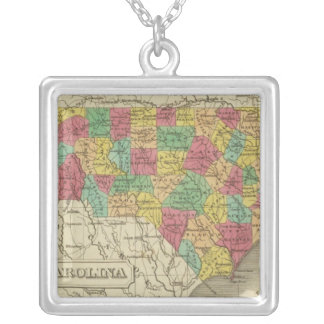North Carolina 3 Silver Plated Necklace
