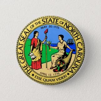 North Carolina 6 Cm Round Badge