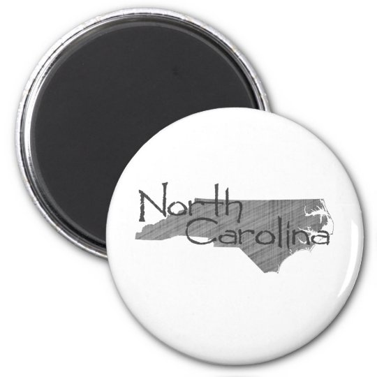 North Carolina 6 Cm Round Magnet