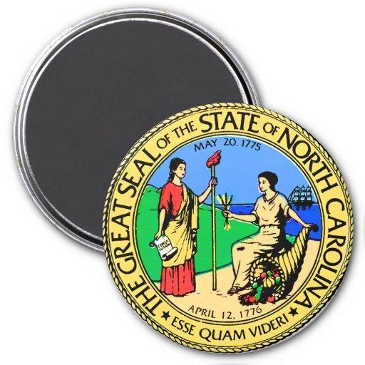 North Carolina 7.5 Cm Round Magnet