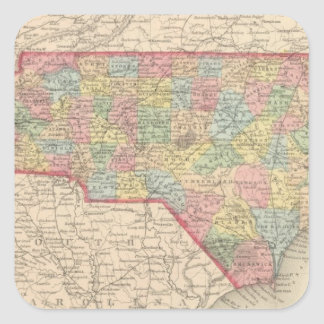 North Carolina 8 Square Sticker