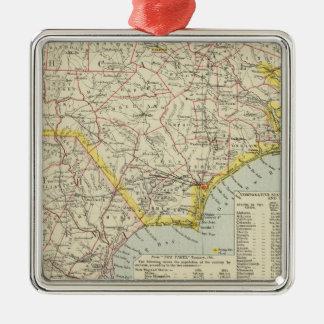 North Carolina and South Carolina 2 Christmas Ornament