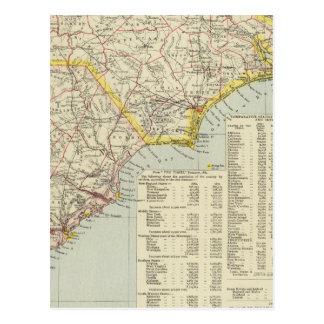 North Carolina and South Carolina 2 Postcard