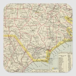 North Carolina and South Carolina 2 Square Sticker