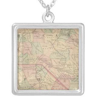 North Carolina and South Carolina Silver Plated Necklace
