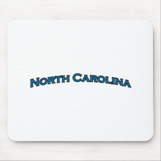 North Carolina Arched Text Logo Mouse Pad