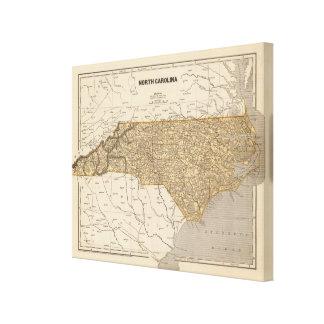 North Carolina Atlas Map Canvas Print