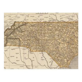 North Carolina Atlas Map Postcard