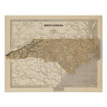 North Carolina Atlas Map Print