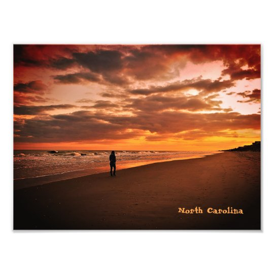 North Carolina Beach Sunset Photo Print