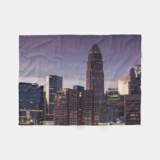 North Carolina, Charlotte, elevated view Fleece Blanket