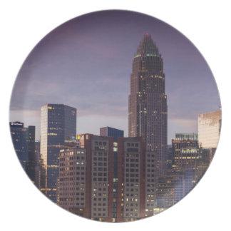 North Carolina, Charlotte, elevated view Plate
