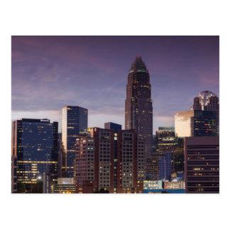 North Carolina, Charlotte, elevated view Postcard