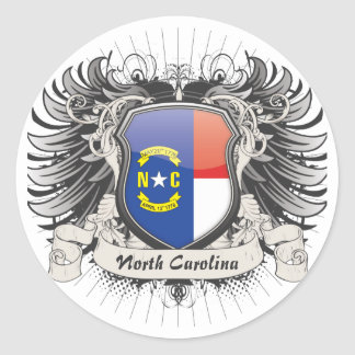 North Carolina Crest Classic Round Sticker