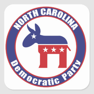 North Carolina Democratic Party Square Sticker