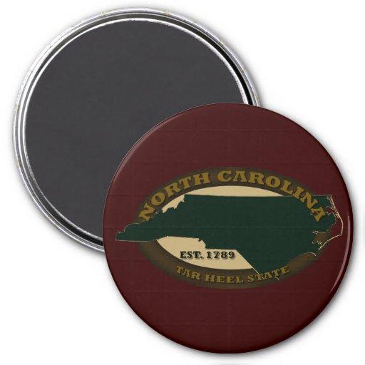 North Carolina Est. 1789 7.5 Cm Round Magnet
