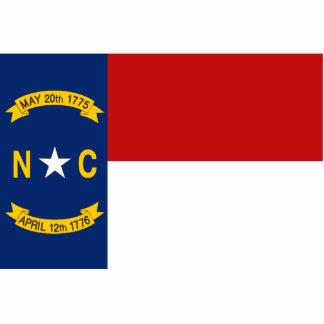 North Carolina Flag Keychain Cut Out