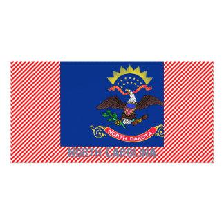 North Carolina Flag Map Photo Card