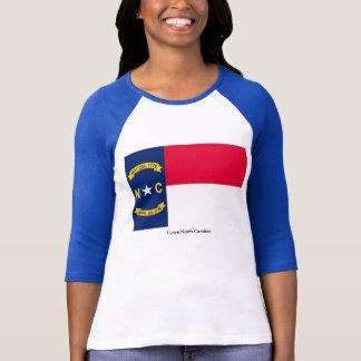 North Carolina flag Women's-T-Shirt-White-Blue T-Shirt