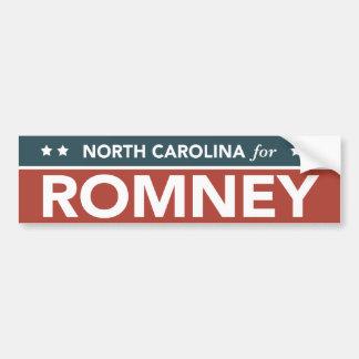 North Carolina For Mitt Romney Ryan Bumper Sticker