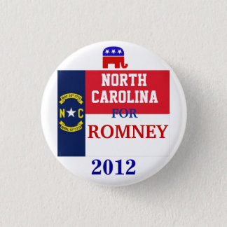 North Carolina  for Romney 2012 3 Cm Round Badge