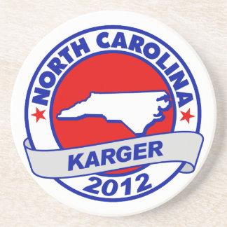 North Carolina Fred Karger Beverage Coaster