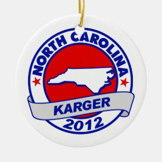 North Carolina Fred Karger Christmas Ornaments