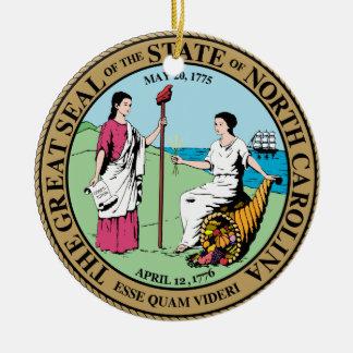 North Carolina Great Seal Round Ceramic Decoration