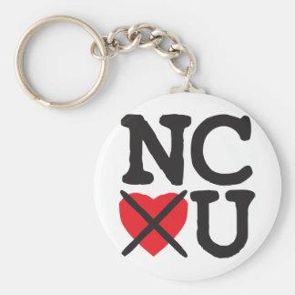 North Carolina Hates You Basic Round Button Key Ring