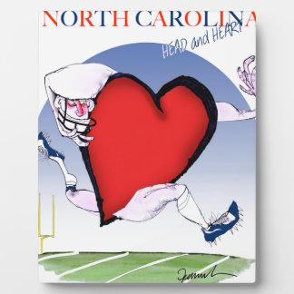 north carolina head heart, tony fernandes plaque