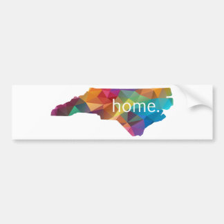 North Carolina HOME Low Poly Bumper Sticker