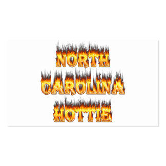 North Carolina Hottie fire and flames Pack Of Standard Business Cards