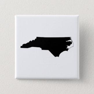 North Carolina in Black and White 15 Cm Square Badge