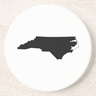 North Carolina in Black and White Coaster